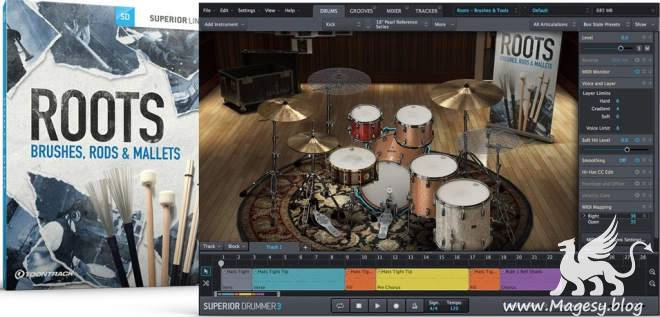 Roots SDX v02 v1.5.0 Brushes Rods And Mallets EXPANSiON